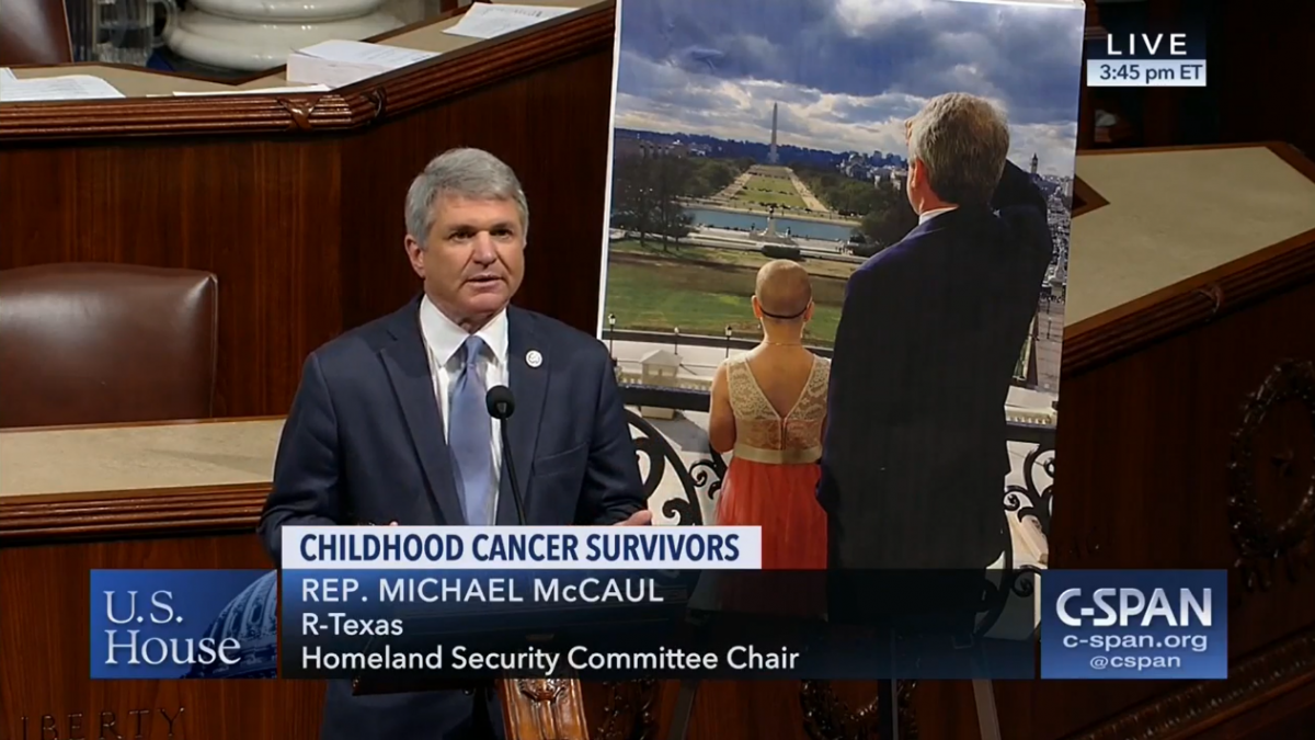 Rep. McCaul on the house floor