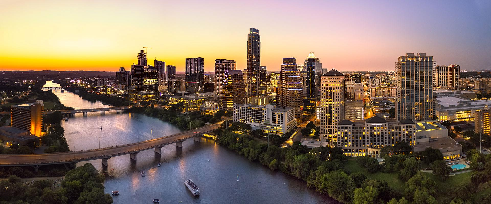 Photo of Austin, Texas, at sunset